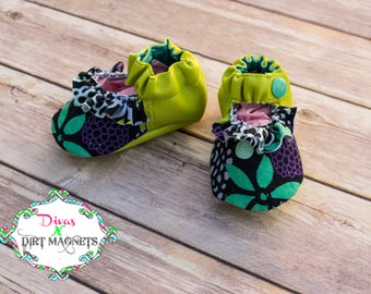 PREORDER Baby Floral Ruffle Mary Jane Shoe, Newborn Shoe, Cutom Shoe