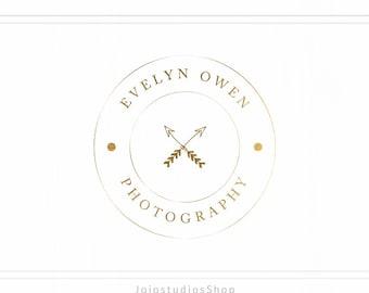 Photography Circle Logo, Watermark, Gold Business Logo, Custom Logo Design, Stamp, Circle Gold, Photographer Logo, Gold Foil Logo, L117