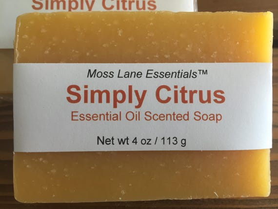 Simply Citrus Essential Oil Scented Cold Process Soap with Shea Butter