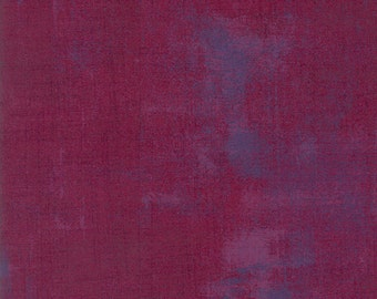 Moda Grunge Basics Boysenberry Purple Mottled Background 30150-335 Fabric BTY 1 yd
