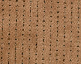 Primitive Gatherings Seasonal Little Gatherings Tan with Brown chain and dot Moda Fabric 1060-31
