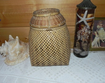 Woven Rattan or Bamboo Fishing / Animal Trap Basket