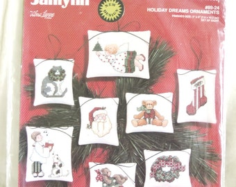 Janlynn Holiday Dreams Ornaments #89-24 Christmas Ornament Cross Stitch Kit