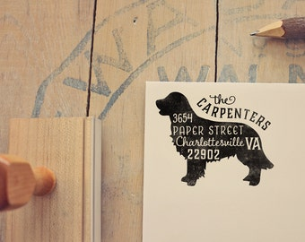 Golden Retriever Address Stamp - Dog Return Address Stamp - Dog Lover Gift - Rubber Stamp - Personalized Pet Address Stamp