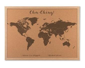 Cork Map USA Cork Push Pin Map United States Cork Board Map - Us map of states cork poster