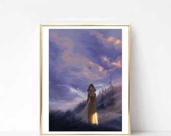 Dark Sky Princess Print
