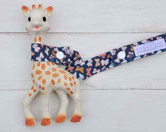 Toy Leash / Toy Strap - Hipster Stag - Deer - Mothlike Shadows Butterfly