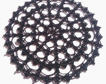 handmade crochet doily black doily lace