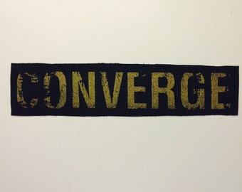 Converge GOLD Punk Rocker Sew On Patch