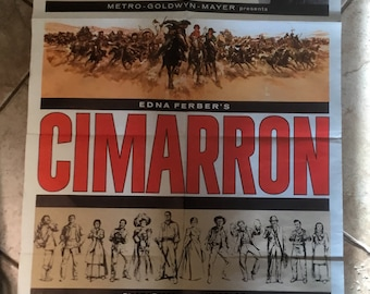Vintage 1960 Cimarron Movie Poster