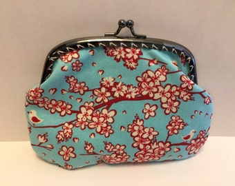 Large Bird and Cherry Blossom Coin Purse
