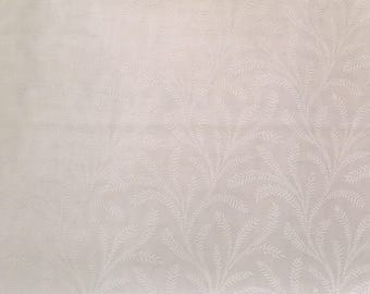 White on white fabric by the yard - tone on tone fabric - white swirl fabric - white floral fabric #17070