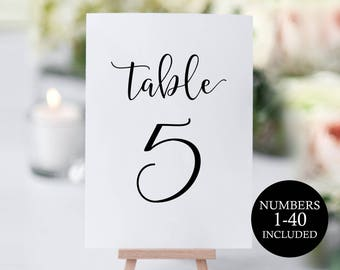 Table Numbers Printable, Rustic Wedding Table Numbers, Table Number Template, Wedding Printable, DIY Table Numbers, PDF Instant Download