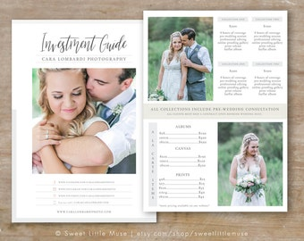Photography Price List Template - Photography Pricing Guide - Photography Sell Sheet - Photoshop Template - Wedding Pricing Template