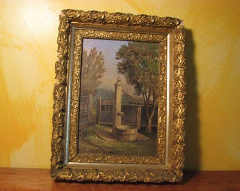 1800's Oil On Board Painting