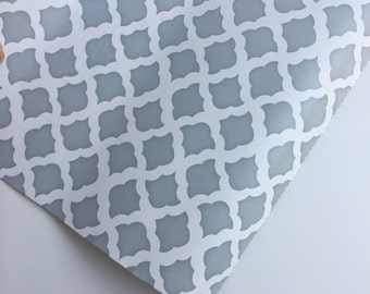 Contact Paper, gray and white Shelf Liner 18 inches x 1.5 yards, gray and white Contact Paper, geometric Contact Paper