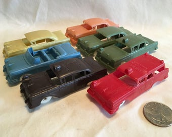 Lot of 7 Plastic F&F 1957 Ford Cereal Premium Cars