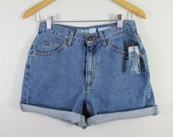 Vintage 90s deadstock denim high waisted shorts, size 6