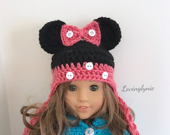 "18"" American girl doll Minnie mouse hat"
