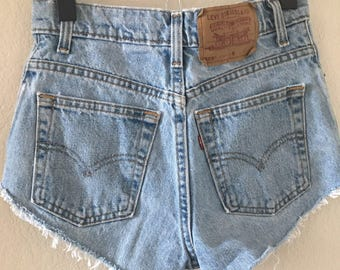 vintage 90's LEVIS denim 505's CUT OFFS - extra small, small