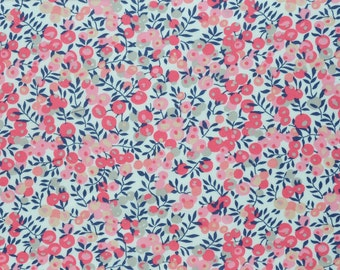Liberty fabric Tana Lawn Wiltshire D - 9''x26'' Fat Eighth -Light/dark pink- NEW 2017 Classic Collection