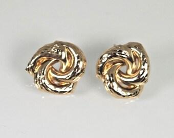 Earrings 14K Yellow Gold Love Knots Post Earrings