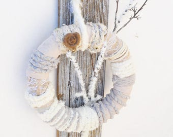 Yarn Wrapped Country Wreath.