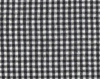 Moda - Day and Night Series - Brushed Homespun Black and White Checks - Lightweight Flannel - Designer Quilt Country - Two and a Third Yards