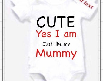 Auntie Godmother nanny cousin Personalised any family member BODYSUIT or design your own