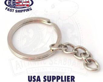 25 pcs RINGS 25mm Keyring Keychain Split Ring Short Chain Split Ring