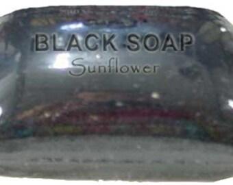 AFRICAN BLACK SOAP - All Natural Acne, Scar, Blemish, Blackhead Treatment & Cure - Large 5.5oz Bar - Free U.S. Shipping