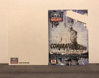 Topps Star Wars Galaxy 7 Sketch Card Commissions