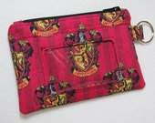 Limited! Harry Potter Hogwarts Gryffindor Keychain ID Wallet, Student / Teacher, Work ID, Badge Holder, Coin Purse - 2 Options for ID Pocket