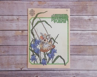 A Merry Mouse Book Of Favorite Poems For Cross Stitch Cute Patterns Pink 80s