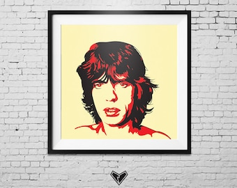 Mick Jagger Portrait Print