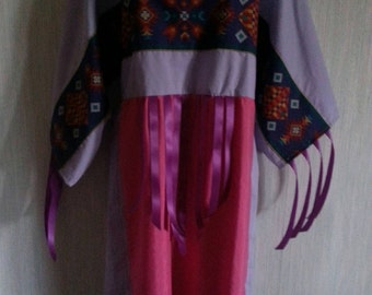3X, 2X, or 1X Native  American indian ribbon dress and leggings. Pow-wow regalia