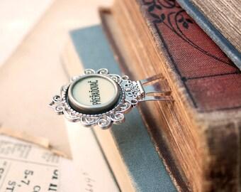 Bookmark / Gifts for Reader/ Steampunk Book Mark/ Typewriter Accessories/ Metal Bookmark with Typewriter key/ Slavic studies / Slavonic