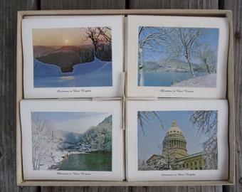 Vintage West Virginia Christmas Cards  (set of 12)