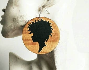 Naturally Me- Wooden Earrings- Qty: 1 pair