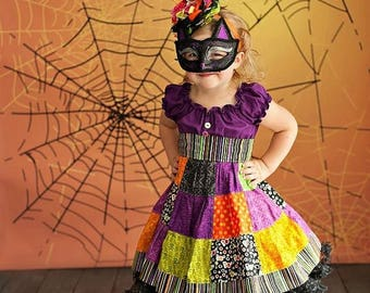 4ft x 4ft Halloween Backdrop - Spider Web Photo Background - Holiday Back Drop - Item 2142