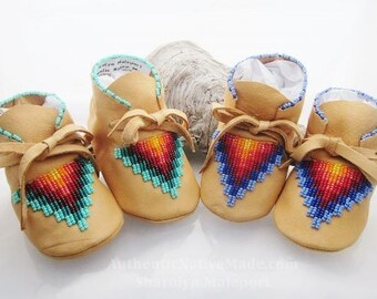 Native American Moccasins baby moccasins Boy Shoes  moccs mocs leather moccasins infant shoes boy moccasins toddler Genuine Leather Shoes
