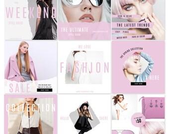 Modern Branding Social Media Graphics Pack Instagram Pinterest Facebook