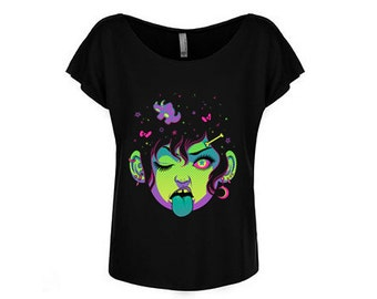 Neon Punk Girl T Shirt