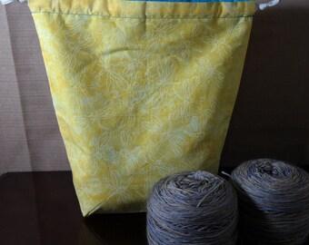 Dragonflies Medium Drawstring Project bag