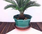 Pottery planter flower po...