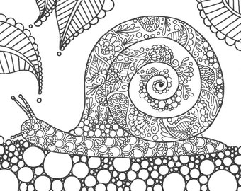 Instant Download Coloring Page Dragonfly Coloring for joy
