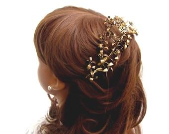 Myrtle Crown vintage wedding Crown Myrtle gold plated, gold plated antique tiara Bridal