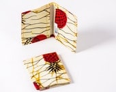 Card holder African print -  credit card wallet - oyster card holder -  travelcard wallet - business card case - card case - Red Pinapple