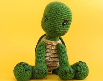 Amigurumi Turtle / Crochet Turtle - Turtle Toy / Stuffed Turtle - Stuffed Animal / Handmade, Green Turtle - WILLY / Ready to ship