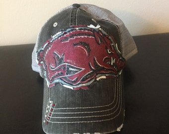 Arkansas Razorbacks Hat (Customizable)